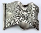 Rockabilly - 'Flag ' Vintage Cast Metal Badge
